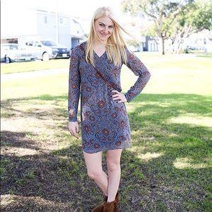 CAbi L/S Paisley Print Shirt Dress